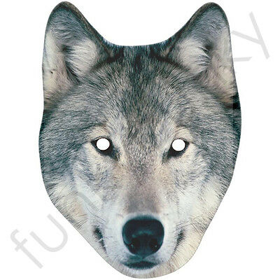Wolf Card Animal Face Mask - All Our Masks Are Pre-Cut!