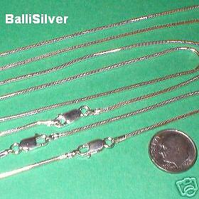 "8 pieces 18"" 45cm Sterling Silver 925 Thick 1.6mm SNAKE CHAIN Necklaces Lot"