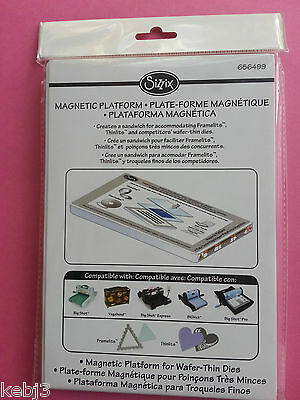 Sizzix MAGNETIC PLATFORM for Wafer Thin Dies (Thinlits/Framelits) 656499 BNIP