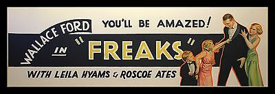 FREAKS * 1932 TOD BROWNING CineMasterpieces HORROR ORIGINAL MOVIE POSTER BANNER