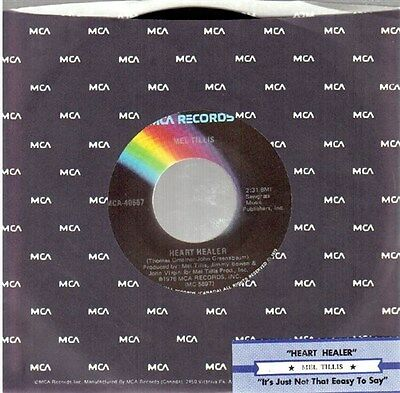 """Mel Tillis: Heart Healer / It's Just Not That Easy To Say 7"""" 45 NM Canada MCA"""
