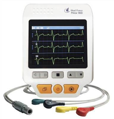 Prince 180D Colour Handheld ECG Monitor - Continuous Mode Deluxe Set
