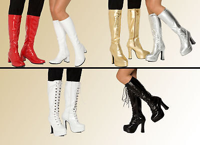 Women's Ladies Knee High Boots - Platform GoGo Boots & Eyelet Fashion boots