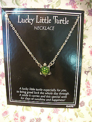 "GANZ NEW LUCKY LITTLE TURTLE 16"" NECKLACE"