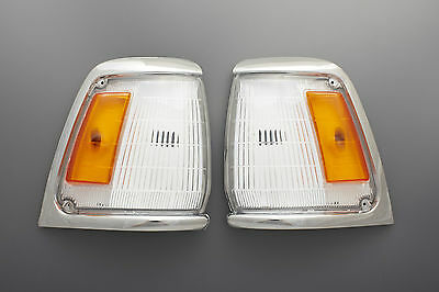 88 - 97 Toyota Hilux Ln85 2Wd Chrome Indicator Corner Light Pair