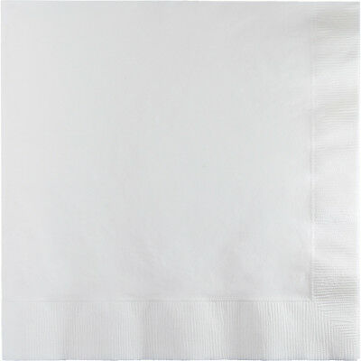 """100 Plain White lunch/dinner napkins, wedding/party Large Size Square 6.5""""x6.5"""""""