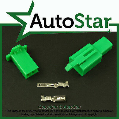 2 Way 2.8mm Mini Connector Kit GREEN Motorbike Kawasaki Motorcycle Connectors