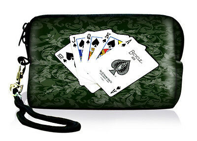 Poker Neoprene Case Bag Pouch For Digital Camera Cell Phone Itouch Iphone 3 4 5