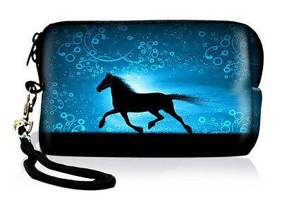 Horse Neoprene Case Bag Pouch For Digital Camera Cell Phone Itouch Iphone 3 4 5