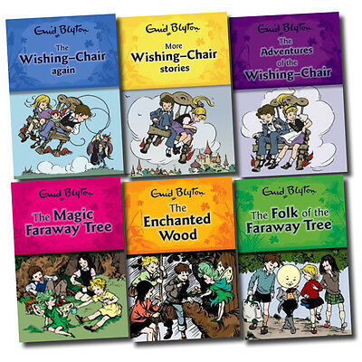Enid Blyton Wishing Chair and Magic Faraway Tree Series 6 Books Collection Set