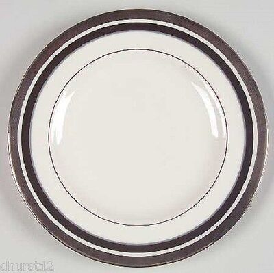 Pickard China Usa Bread And Butter Plate Diplomat Platinum Black