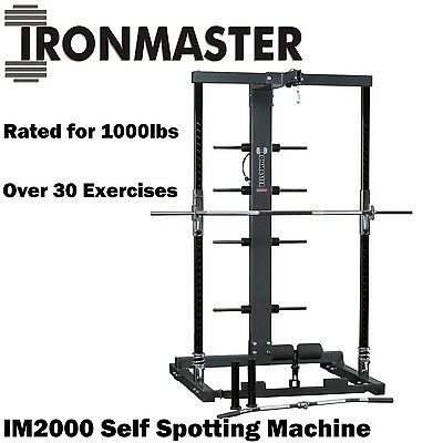 IRONMASTER IM2000 Self Spotting Machine Smith Machine Squat Rack