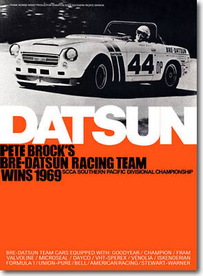"1969 BRE Datsun Roadster Champion Poster (24""x33"") sold by Peter Brock BRE!"