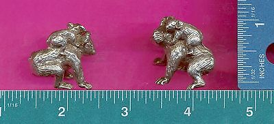 Lead free pewter koala bear with baby figurine F6044