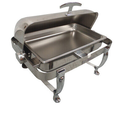 New Roll Top Chafing Dish Chafer Buffet Bain Marie Stainless Steel Warmer