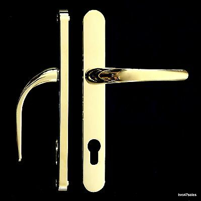 GOLD BRASS POLISHED Quality SPRUNG Door Handle upvc pvc Lock Lever silver Patio