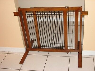 Crown Tall Freestanding Pet Gate with Security Arms in Small or Large Span