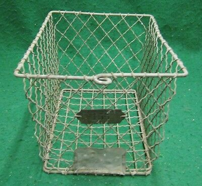 Vintage Gym Locker Wire Pool Basket Unique 13x7.5x7  #1139-12