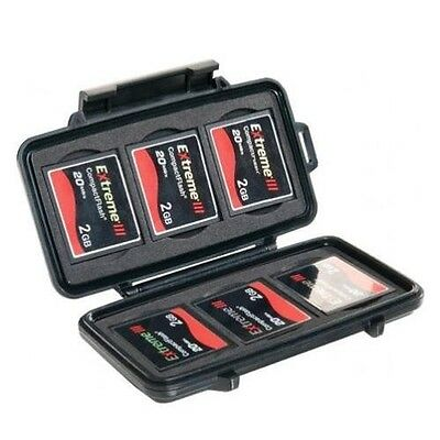 Pelican 0945-015-110 Compact Flash Case for 6 CF Memory Card Case