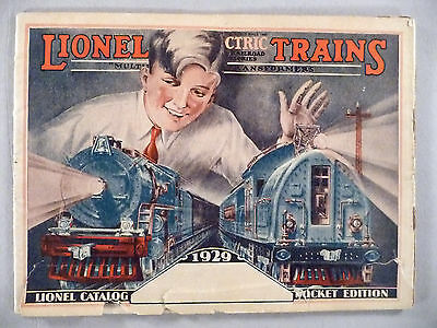 Lionel Train CATALOG - 1929 Pocket Edition ~~ toy trains