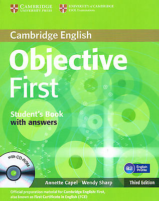 Cambridge OBJECTIVE FIRST Student's Book w Answers & CD-ROM Third Ed @NEW BOOK@