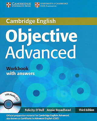 Cambridge OBJECTIVE ADVANCED Workbook with Answers & Audio CD Third Ed BRAND NEW