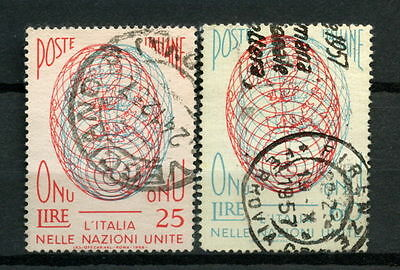 Italy 1956 SG#940-1 Admission To United Nations Used Set #A29275