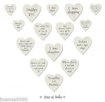East Of India Wooden Heart Shaped Fridge Magnet Signs Gift Present For A Friend