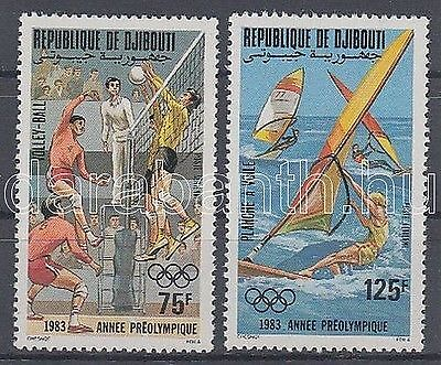 Djibouti stamp Summer Olympics 1984, Los Angeles set 1983 MNH WS111873