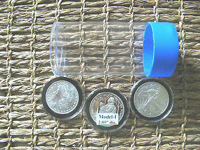 10 Airtite Coin Cap-Tube Tite-2 Holders Model-i Silver Eagle Dollar Bullion Rds