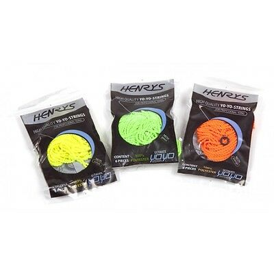 Henrys UV YoYo String x 6 - Professional Yo-Yo String - Choice of UV Colours