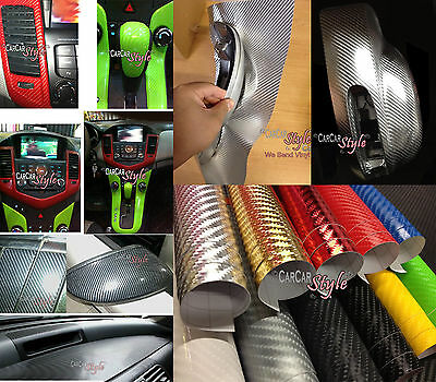 4D GLOSS【AIR Free Carbon Fibre Vinyl】Wrap Textured for car & home (real look)