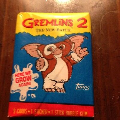 Topps Gremlins 2 wax pack trading cards