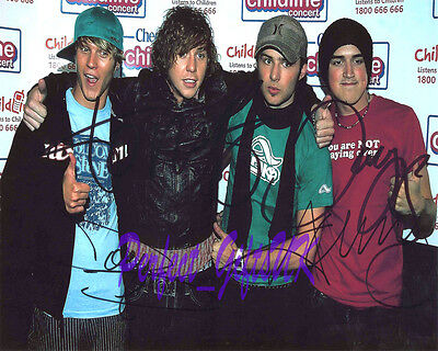 MCFLY BAND x4 Signed Autographed 10X8 PP REPRO PHOTO Tom Danny Harry Dougie