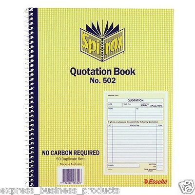 3 Pack Spirax #502 Quotation Book Carbonless – EA56502