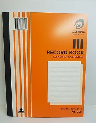 Olympic 706 Carbonless Record Book - AO140859