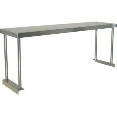 2134 x 300mm STAINLESS STEEL BENCH SINGLE OVERSHELF KITCHEN FOOD PREP SHELF E0