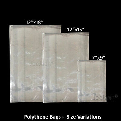 Polythene Plastic Clear Poly  Bags Suitable For Food Use - Pack Of 1000