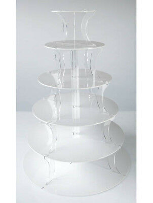 White Cupcake Stand 6 Tier Wedding Cupcake & Party Tower
