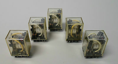 5 - OMRON Cube Relay LY2N, 24 VDC, Used, WARRANTY