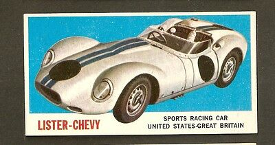 1961 Topps Sports Cars #61 Lister-Chevy Racing  United States Great Britain NM