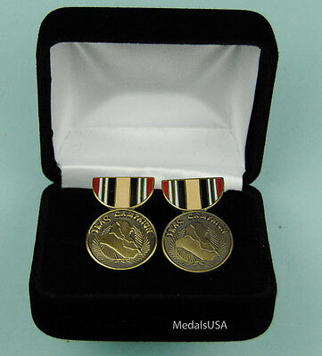 Iraq Campaign Medal Cuff Links in Presentation Gift Box Cufflinks