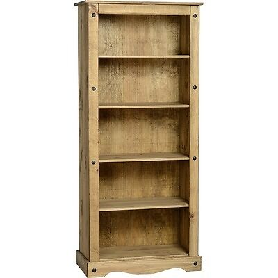 Mexican Tall Bookcase Solid Wood