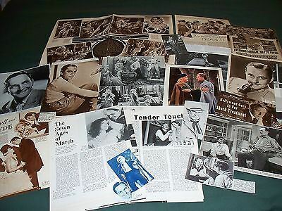 Fredric March - Film Star - Clippings - Cuttings Pack