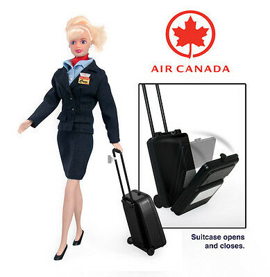 Flight Attendant Doll Air Canada w/ backpack & Accessories Blond New in Package