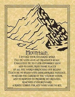 MOUNTAIN PRAYER POSTER A4 SIZE Wicca Pagan Witch Witchcraft Goth BOOK OF SHADOWS