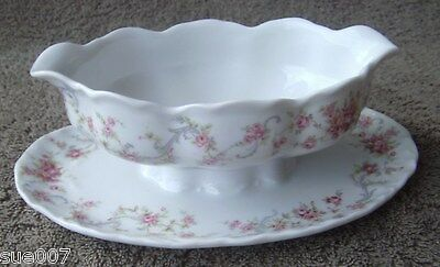 Hutschenreuther 1814 Racine Richelieu Germany China Gravy Boat Attached Plate