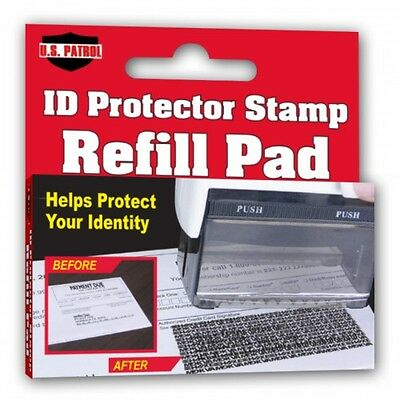 REFILL U.S. Patrol ID Protector Stamp Pad Identity Theft Ink Replacement Protect