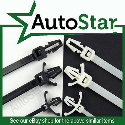 Push Mount Cable Ties 2.5mm, 4.8mm / 100mm, 200mm Panel / Chassis Fixing Base