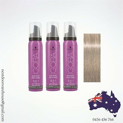 3x 92g /100ml Schwarzkopf Color Gloss IGORA Mousse Pearl 9,5-1 (Pick Up Avail)